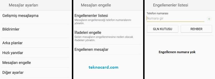 Samsung Mesaj Engelleme Samsung Mesaj (SMS) Engelleme Nasıl Yapılır?